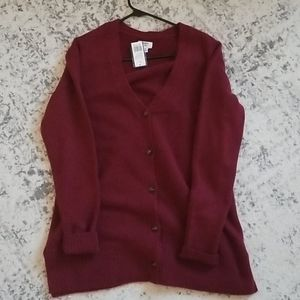 NWT Crown & Ivy button-up cardigan, M